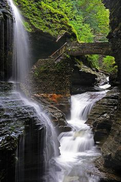 New York State has the most gorgeous waterfalls. This particular one is in Watkins Glen State Park.