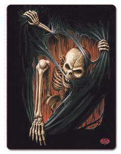 Spiral Gothic Blanket - Death Rip Fleece Blanket [10373500] - £19.99 :