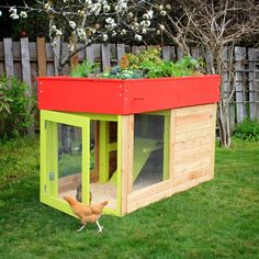 I'm not into chickens but I hear of a lot of people wanting to have chickens in their backyard.  This would be a good idea.  Nice coop, planter on top