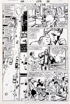 Daredevil #232 page 22 - Hell Kitchen is where I was born -- and Born Again , in William Tran's [The Masters] Frank Miller & David Mazzucchelli Comic Art Gallery Room