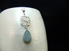 Aquamarine Sterling Silver Necklace by WelshHillsJewellery on Etsy