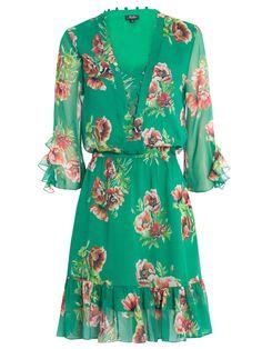 Vestido Seda Babados - Daslú - Verde - Shop2gether