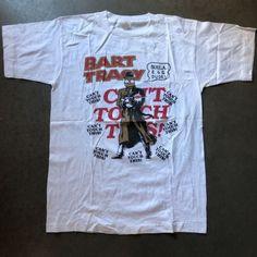 ea679e614 Mens Vintage 90s Bootleg Bart Simpson Dick Tracy Single Stitch T Shirt Tee  Sz XL