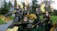 Sakuracon 2013 - Kyoshi Warriors by OTLProductions on DeviantArt Avatar Kyoshi, Aang, Avatar The Last Airbender, Avatar Cosplay, Comic Costume, Cosplay Costumes, Amazing Cosplay, Best Cosplay, Kyoshi Warrior