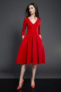 c23d2bf75f Rozkloszowana sukienka midi - kasiamiciak - Sukienki midi Formalne Sukienki