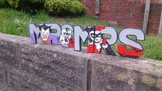 Hand Painted Mr & Mrs letters with Joker and Harley Quinn £20.00