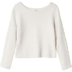 Monki Paula knitted top (66 ILS) ❤ liked on Polyvore featuring tops, sweaters, shirts, jumpers, whipped white, boat neck tops, white boat neck top, bateau neck sweater, knit sweater and shirts & tops