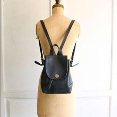 Vintage Coach Small Leather Backpack Rucksack Vintage Coach Black Leather Backpack Rucksack Coach Bags Backpacks