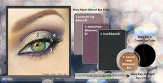 We just love this purple and gold eye look with step by step instructions!