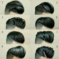 48 Ideas for hair men barber beard styles Mens Hairstyles Pompadour, Hairstyles Haircuts, Haircuts For Men, Latest Hairstyles, Mens Hairstyles Fade, Hair And Beard Styles, Short Hair Styles, Gents Hair Style, Beard Tattoo