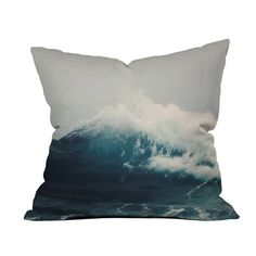 Hazy blues from the wide-open ocean crash and commingle on this energetic throw pillow. Add some of nature's might to your favorite chair with this striking photo print. Choose either pillow with inser...  Find the Crashing Waves Pillow, as seen in the Nautical Explorer Collection at http://dotandbo.com/collections/nautical-explorer?utm_source=pinterest&utm_medium=organic&db_sku=99005