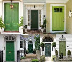 Front Door Paint Color Ideas- Greenery- Mohawk Homescapes & Image result for green doors on gray houses | Front door | Pinterest ...