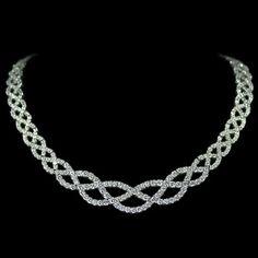 Braided Diamond Necklace