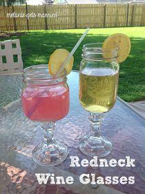 Melanie Gets Married: Redneck Wine Glasses