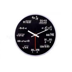Matematické hodiny - čierne, 30cm Clock, Wall, Decor, Watch, Decoration, Clocks, Walls, Decorating, Deco