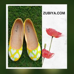 Handoainted quirky shoes by zubiya.com