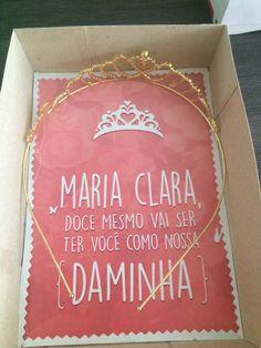 Convite Daminha com tiara