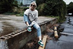 girl sweater sneaker