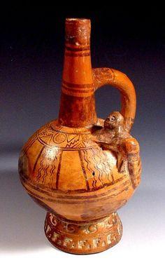 Pre-Columbian vessel, Lambayeque horizon of the north coast of Peru. Dating c.800-1300AD
