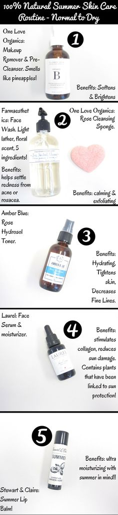 My 100% #Natural #Skin Care #Summer Routine.  Let us customize your Summer Routine!  Shop online or in store!