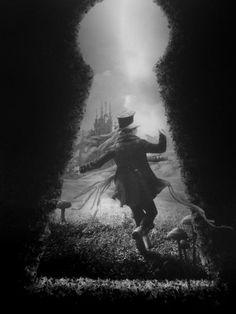 Alice in Wonderland-Mad Hatter Tim Burton, Adventures In Wonderland, Alice In Wonderland, We All Mad Here, Illustration Fantasy, Chesire Cat, Johny Depp, Alice Madness, Go Ask Alice