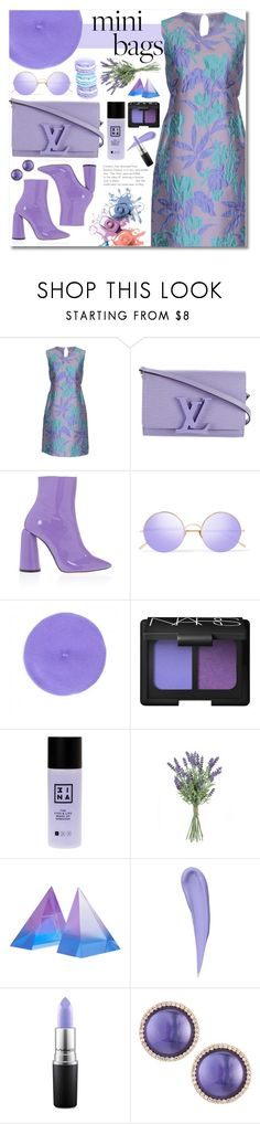 """lavender"" by janajane90 ❤ liked on Polyvore featuring P.A.R.O.S.H., Louis Vuitton, E L L E R Y, Sunday Somewhere, NARS Cosmetics, 3ina, Jonathan Adler, Maybelline, MAC Cosmetics and Roberto Coin"