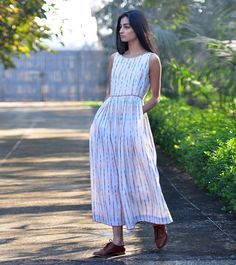 The Timeless Wanderer - A collection of free- flowing silhoutes and easy style, shift dresses for the free spirited bohemian in you. Summer Maxi, Summer Dresses, One Piece Dress, Indian Wear, Simple Style, Indian Fashion, Street Style, Cotton, How To Wear