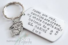 my whole hard belongs to a US Marine Keychain  by ImprintKeepsakes