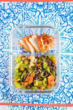 I had to share another success recipe from Flavcity :-) Everything I've made from Flavcity has been a big hit. The kids weren't thrilled with wild rice…. List Of Salads, Ginger Honey Lemon, Cooking Wild Rice, Lunch Containers, Salad Ingredients, Easy Chicken Recipes, Food Print, Meal Prep, Easy Meals