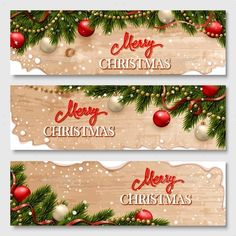Chistmas Banners Set Vector EPS #design Download: http://graphicriver.net/item/chistmas-banners-set/14118781?ref=ksioks