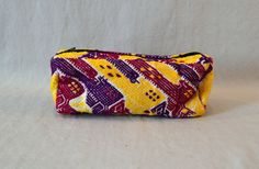 Guatemala  Handmade Makeup Bag  Yellow by PIDcrafts on Etsy