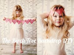 DIY Backdrops Make your own birch tree children's photography backdrop <3