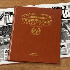 This Personalised Aston Villa History Book is the perfect gift for any fan of the club. The book kicks off with the earliest newspaper reports, covering their most memorable games and star players, leading right up until last season.