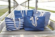 PERSONALIZED Nautical Beach Bag  Trendy by grinsandgigglesbaby1, $24.99