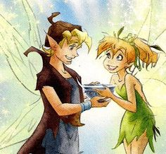 Tink and Terence Tinkerbell And Friends, Disney Fairies, Disney Concept Art, Disney Fan Art, Disney And Dreamworks, Disney Pixar, Tinkerbell And Terence, Pixie Hollow, Walt Disney Animation