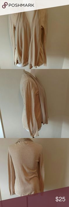 Michael Kors Beige Sweater Size small. Flowy trim. No buttons. Great for a work day or evening out! Michael Kors Sweaters Cardigans