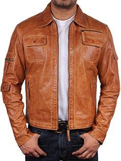 UK Vintage Men's Leather Biker Jacket Tan Real Leather Motor Biker Jacket Slim Fit Coat Outwear XSmall-6XL (X-Small) Brandslock http://www.amazon.co.uk/dp/B00PFYQ68G/ref=cm_sw_r_pi_dp_pKhJwb03VKTHP