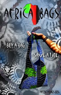 Africa Bags.  Buy a bag.  Save a life.  I have many bags, but I adore the artisan-crafted jewelry as well.  I cannot tell you how much I ADORE and ADMIRE Africa Bags and what they do.