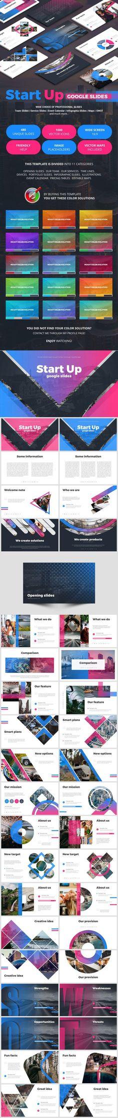 StartUp Keynote - Keynote Business Presentation Template by EvgenyBagro. Business Presentation Templates, Presentation Design Template, Presentation Layout, Design Templates, Keynote Template, Knowledge, Graphic Design, Thoughts, Google