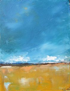 Original Abstract Landscape Painting Andersen by lindadonohue, $95.00