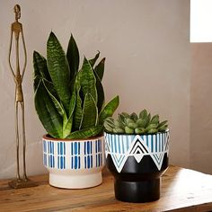 Peruvian Planters - $34 each (less 20% is $27.20) - for mantle