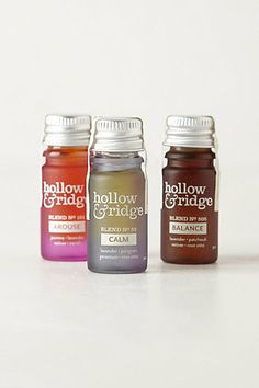 Hollow & Ridge Essential Oil Blends #anthropologie