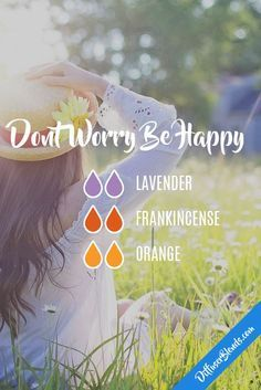 Don't Worry Be Happy with doTERRA essential oils Essential Oil Diffuser Blends, Doterra Essential Oils, Doterra Diffuser, Essential Oil Perfume, Young Living Oils, Young Living Essential Oils, Sante Bio, Elixir Floral, Natural Treatments