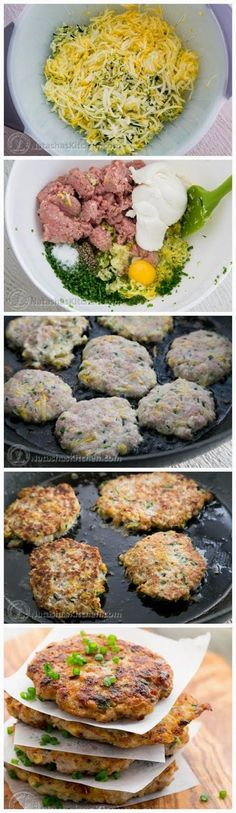 Imagine if you will that a katleta (meat patty) married a zucchini fritter and they had babies = Chi...