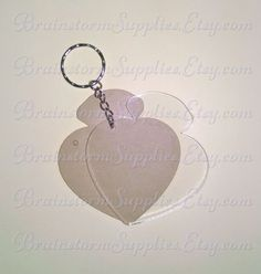 Clear Acrylic Blank Heart Diamond Wedding by BrainstormSupplies.Etsy.com  Vinyl Supplies, Key Ring, Acrylic Blank Shapes for Great for Cricut Decorating.