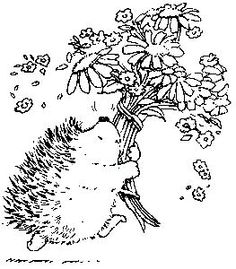 penny black egel met bos bloemen