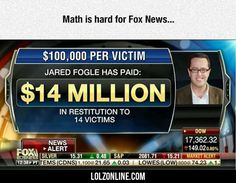 Math Is Hard For Fox News...