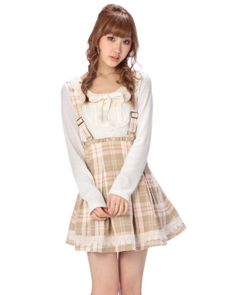 サス付き風チェック柄スカート|ボトムス | 渋谷109で人気のガーリーファッション リズリサ公式通販