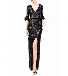 Sequined V Neck Jumpsuit W/ Ruffles Ruffles, Goth, Jumpsuit, V Neck, Women, Style, Fashion, Gothic, Overalls