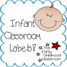 """This is a set of 26 different 4""""x4"""" labels for your infant classroom. These are great for daycare centers, home child care, and other infant learning environments! Get labels for individual cribs and cubbies, nap areas, changing tables, and more. They'll help you and your parents navigate the room, and infants will enjoy the pictures and can start making connections."""